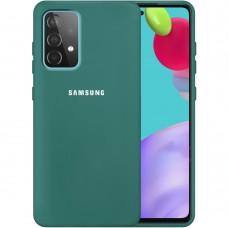 Силикон Original 360 Case Logo Samsung Galaxy A52 (2021) (Тёмно-зелёный)