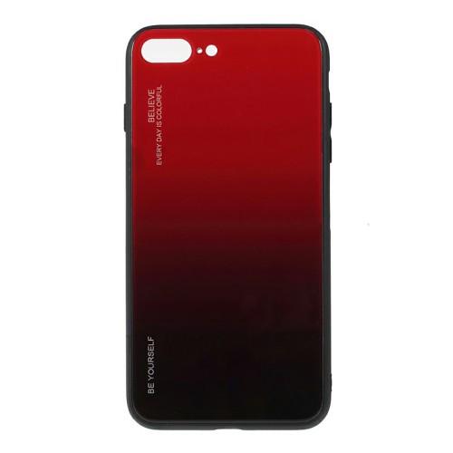 Накладка Glass Case Apple iPhone 7 Plus / 8 Plus (Красный)
