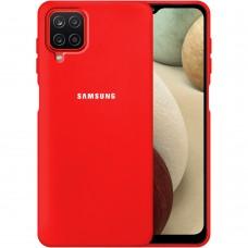 Силикон Original Case Samsung Galaxy A12 (2020) (Красный)