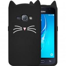 Силикон Kitty Case Samsung Galaxy J1 (2016) J120 (Чёрный)