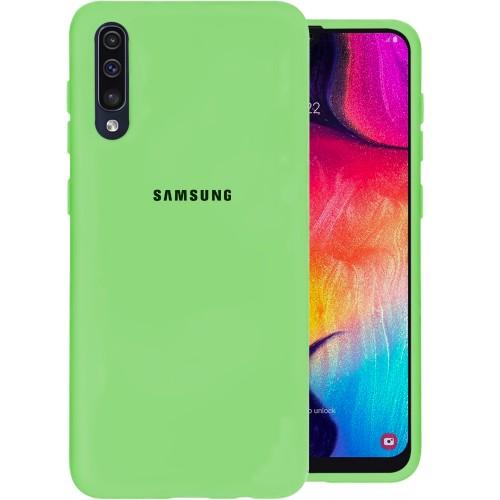 Силиконовый чехол Original Case (HQ) Samsung Galaxy A30s / A50 / A50s (2019) (Зелёный)