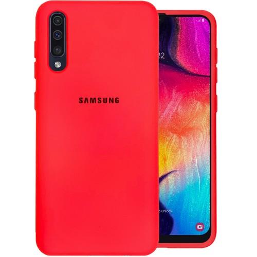 Силиконовый чехол Original Case (HQ) Samsung Galaxy A30s / A50 / A50s (2019) (Красный)