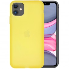 Силикон TPU Latex Apple iPhone 11 (Желтый)