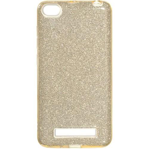 Силиконовый чехол Glitter Xiaomi Redmi 4a (золотой)