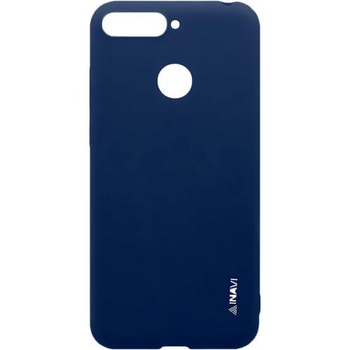 Силиконовый чехол iNavi Color Huawei Y6 Prime (2018) / Honor 7A Pro (темно-синий..