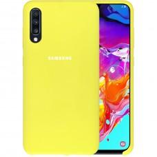 Силикон Original Case HQ Samsung Galaxy A70 (2019) (Лимонный)