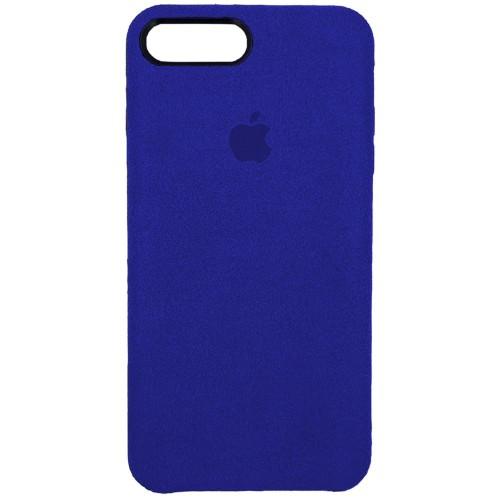 Чехол Alcantara Cover Apple iPhone 7 Plus / 8 Plus (темно-синий)