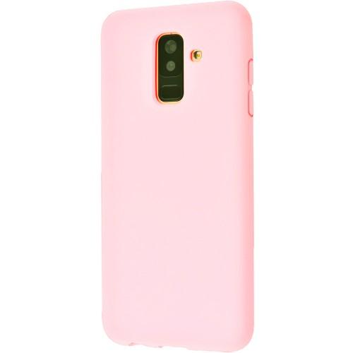 Силиконовый чехол iNavi Color Samsung Galaxy A6 Plus (2018) A605 (розовый)