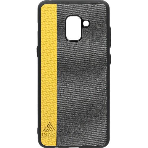 Силиконовый чехол Inavi Samsung A8 Plus (2018) A730 (золотой)