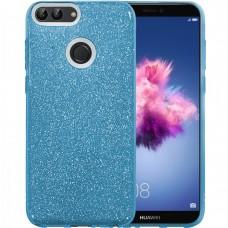 Силикон Glitter Huawei P Smart (Голубой)