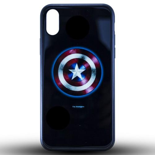 Накладка Luminous Glass Case Apple iPhone XR (Captain America)