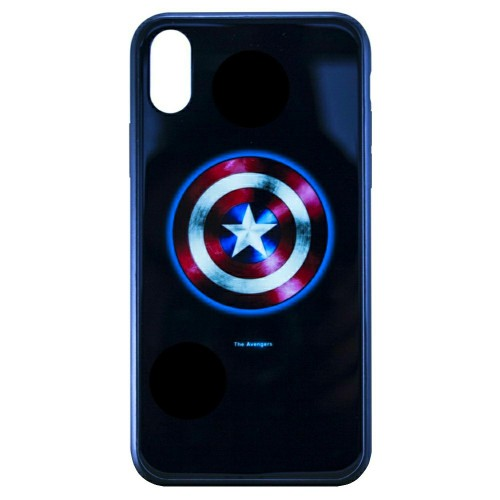 Накладка Luminous Glass Case Apple iPhone XR (Captain America)
