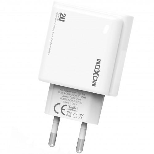СЗУ-адаптер MOXOM (MX-HC20) + MicroUSB-кабель 2.4A 2USB