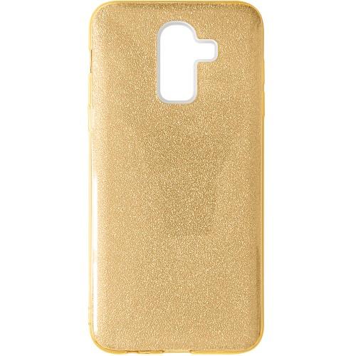 Силиконовый чехол Glitter Samsung Galaxy A6 Plus (2018) A605 (Золотой)