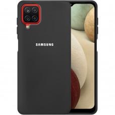 Силикон Original Case Samsung Galaxy A12 (2020) (Чёрный)