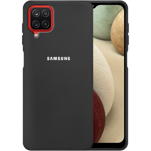 Силикон Original 360 Case Logo Samsung Galaxy A12 (2020) (Чёрный)