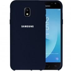 Силикон Original Case HQ Samsung Galaxy J3 (2017) J330 (Тёмно-синий)