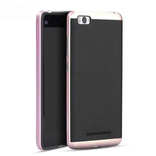 Силиконовый чехол iPaky Carbon Case Xiaomi Mi4c (розовый)