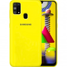 Силикон Original Case Samsung Galaxy M31 (2020) (Жёлтый)
