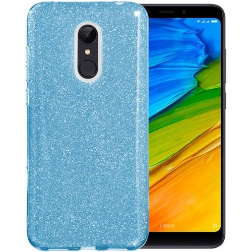Силиконовый чехол Glitter Xiaomi Redmi 5 Plus (синий)