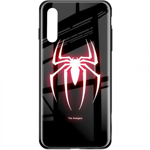Накладка Luminous Glass Case Samsung A50 (2019) (Spiderman)
