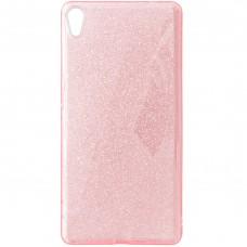 Силикон Glitter Sony Xperia X F5122 (Розовый)