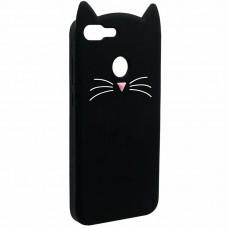 Силиконовый чехол Kitty Case Huawei Honor 9 Lite (чёрный)