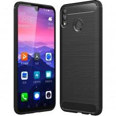 Силиконовый чехол Polished Carbon Huawei Honor 8X (черный)