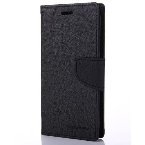 Чехол-книжка Goospery Canvas Diary Samsung Galaxy S7 (Чёрный)