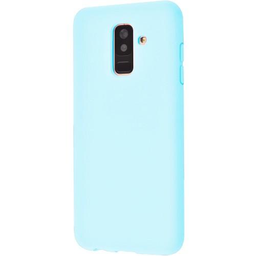 Силиконовый чехол iNavi Color Samsung Galaxy A6 Plus (2018) A605 (голубой)