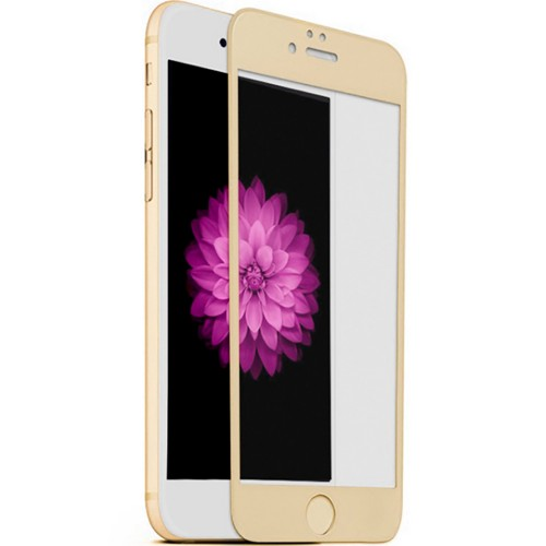 Стекло 5D Apple iPhone 6 / 6s Gold