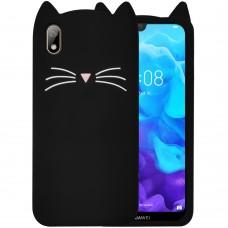 Силикон Kitty Case Huawei Y5 (2019) / Honor 8S (Черный)