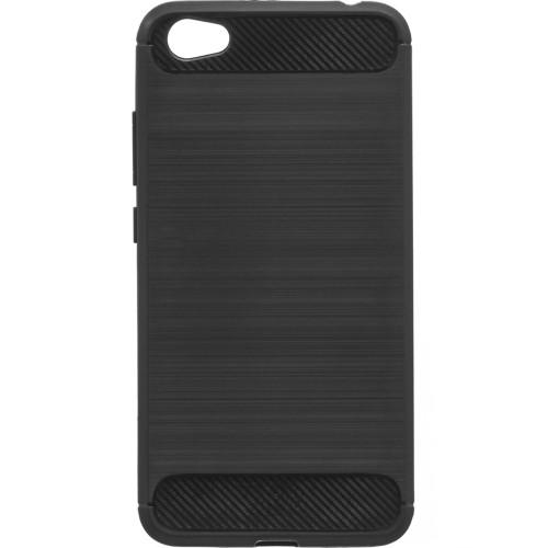 Силиконовый чехол Polished Carbon Xiaomi Redmi Note 5a (Черный)
