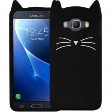 Силикон Kitty Case Samsung Galaxy J5 (2016) J510 (Черный)