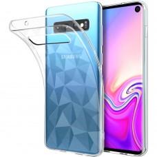Силиконовый чехол Prism Case Samsung Galaxy S10 (прозрачный)