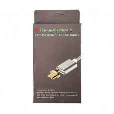 USB кабель Clip-ON Magnetic (MicroUSB) (черный)