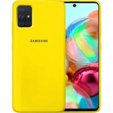 Силикон Original Case Samsung Galaxy A71 (2020) (Жёлтый)