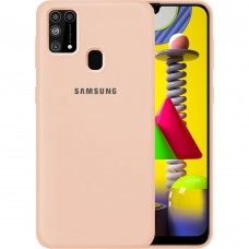 Силикон Original Case Samsung Galaxy M31 (2020) (Пудровый)