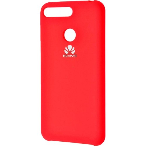 Силикон Original 360 Case Logo Huawei Y6 Prime (2018) / Honor 7A Pro (Красный)
