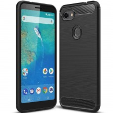 Силикон Polished Carbon Pixel 3A XL (Чёрный)