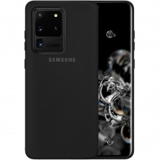 Силикон Original Case Samsung Galaxy S20 Ultra (Чёрный)