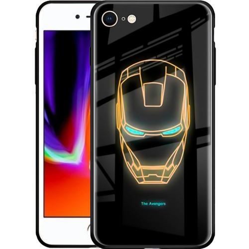 Накладка Luminous Glass Case Apple iPhone 7 / 8 (Iron Man)