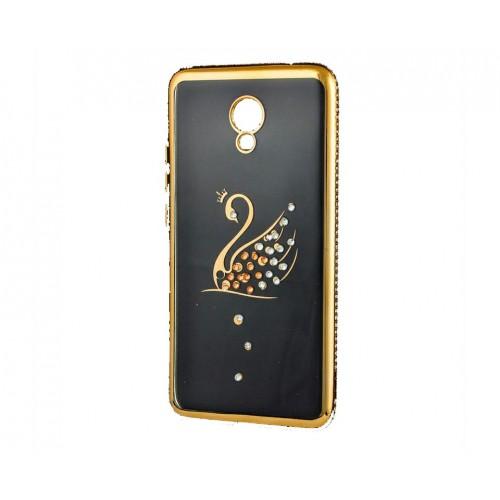 Силиконовый чехол Kingxbar Diamond Meizu M6 (Лебедь, Золотой)