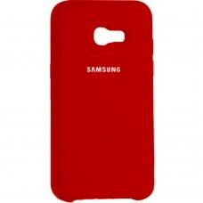 Силиконовый чехол Original Case Samsung Galaxy A7 (2017) A720 (Красный)