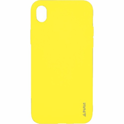 Силикон iNavi Color iPhone XR (желтый)