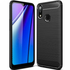 Силикон Polished Carbon Samsung Galaxy A10s (2019) (Чёрный)