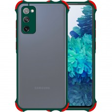 Чехол Armor Frame Samsung Galaxy S20 FE (Тёмно-зелёный)