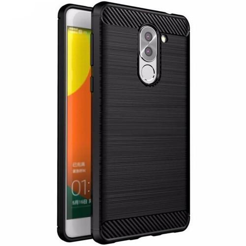 Силиконовый чехол Polished Carbon Huawei GR5 2017 (черный)