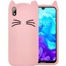 Силикон Kitty Case Huawei Y5 (2019) / Honor 8S (Розовый)