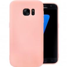 Силиконовый чехол iNavi Color Samsung Galaxy S7 Edge (Розовый)